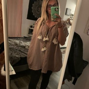 free people tunic top with tassels